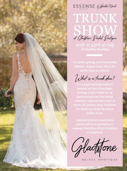 16ccb00dac153 Trunk Show at Gladstone Bridal Boutique - Gladstone News