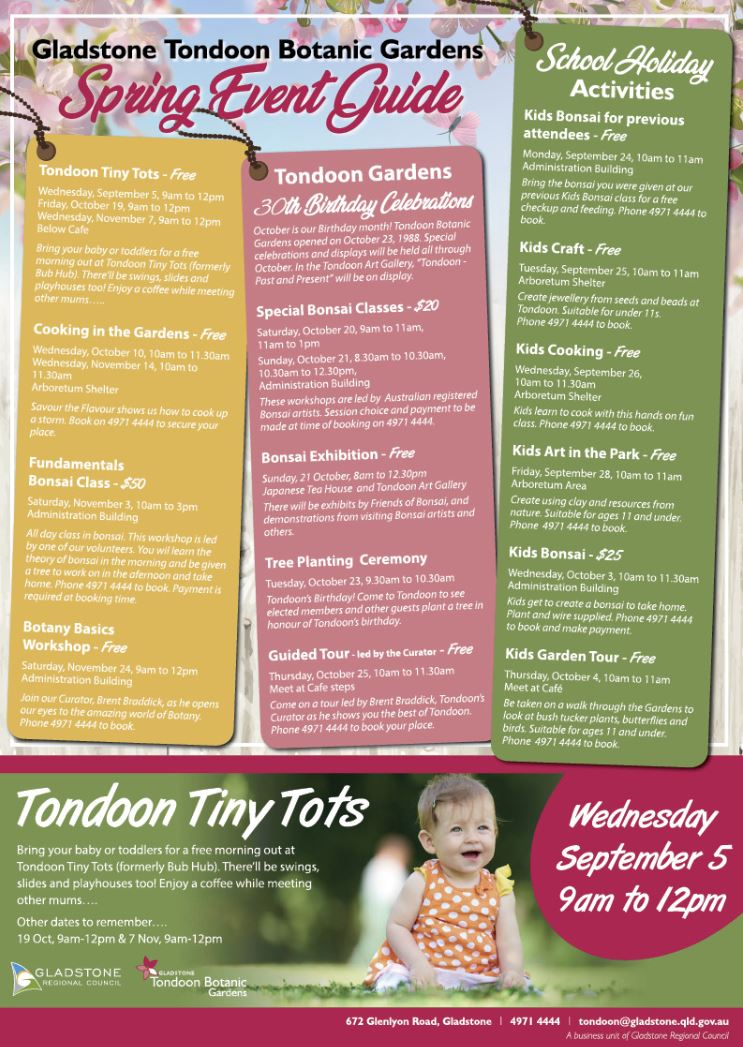 Tondoon Botanic Gardens - SPRING EVENT GUIDE